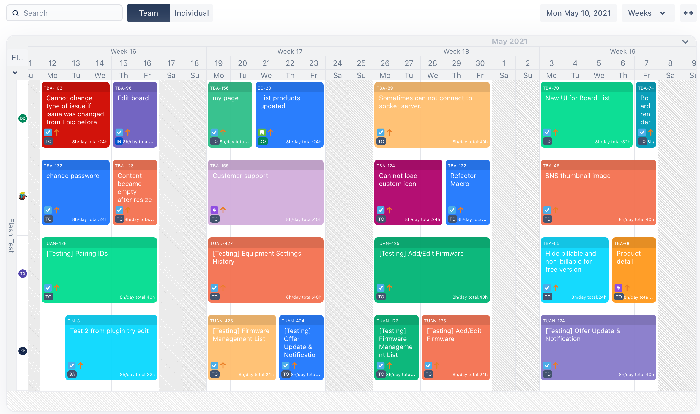 Resource planning for Teams in Jira